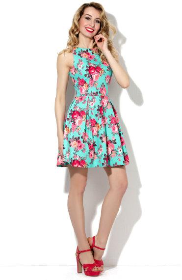 Платья В Цветочек Со Складками