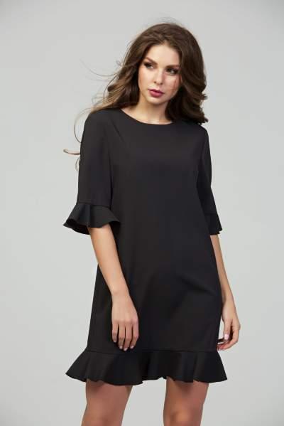 e78922da523 Черное коктейльное платье из ткани гальяно DSP-289-6 купить в ...