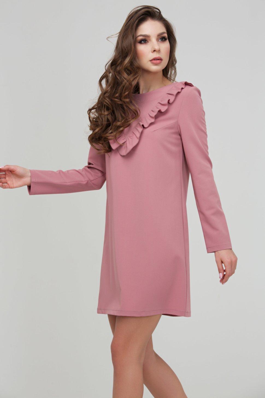 db0e489bf3f Романтичное розовое платье полуприлегающего силуэта DSP-306-82 ...