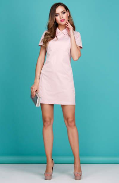 5c1169c59cc Коктейльное розовое платье из бархата DSP-271-80t купить в интернет ...