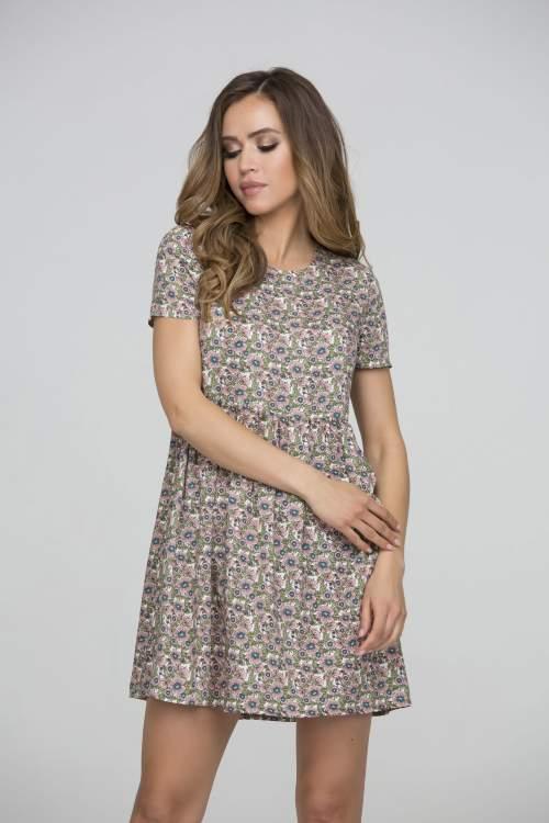 53aa4eb85cd Платье с цветочным принтом из вискозной ткани «батист»